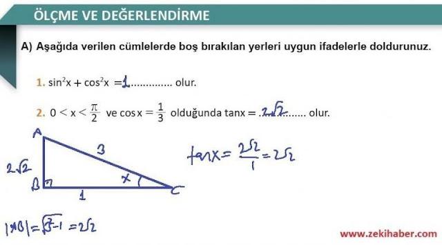 11. Sınıf MEB Yayınları Matematik 69. Sayfa Cevapları