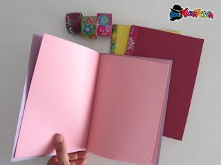 quaderno colorato fai da te