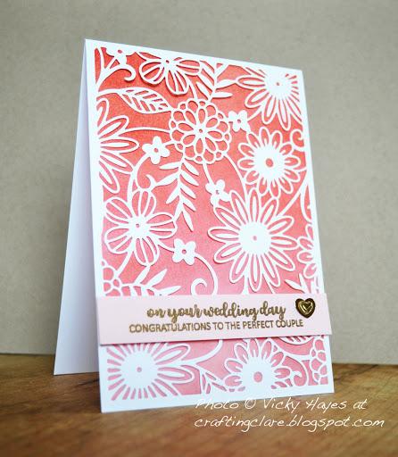 Ombre wedding card