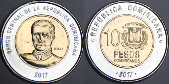 Dominican Republic 10 pesos 2017 - PESO DOMINICANO series