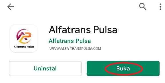 Buka Aplikasi Alfatrans Pulsa