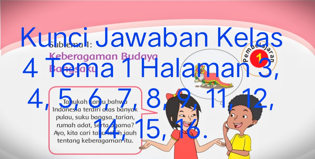 Tematik kelas 4 tema 1. Kunci Jawaban Buku Tematik Siswa Kelas 4 Tema 1 Subtema 1 Pembelajaran 1 Halaman 3 4 5 6 7 8 9 11 12 14 15 16 Info Pesilat