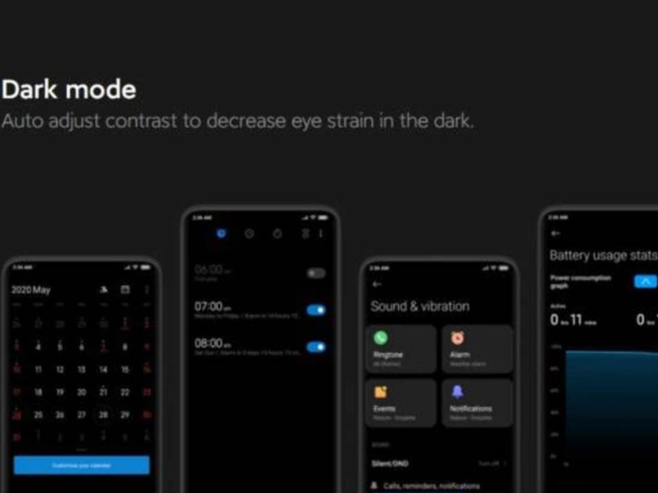MIUI 12 global update MIUI12_DarK_Mode