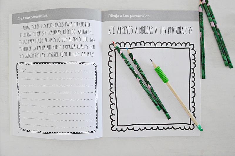 cuaderno atrapa palabras cuentos escritura creativa