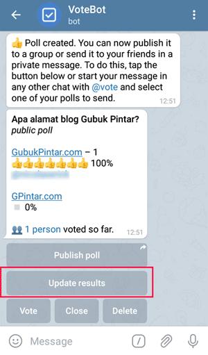 update result poll bot vote telegram