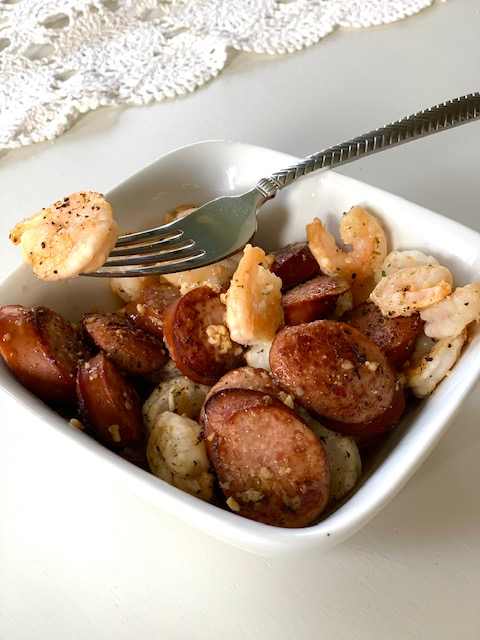 Shrimp and Sausage Stir Fry