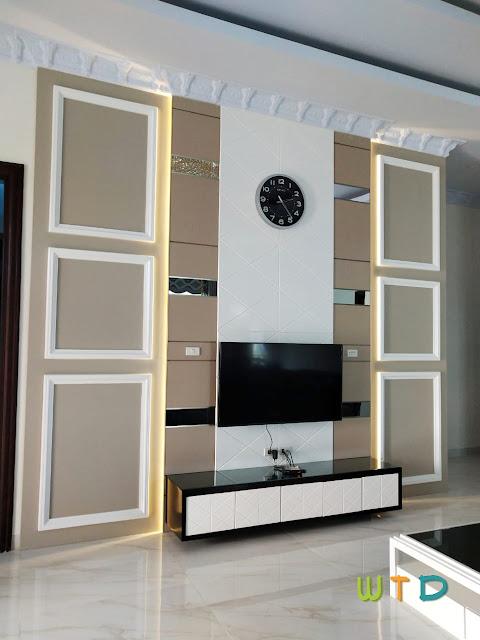 Desain Meja TV Modern Klasik
