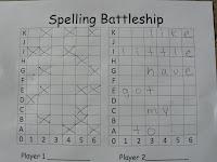 Mrs. T's First Grade Class: Spelling Battleship
