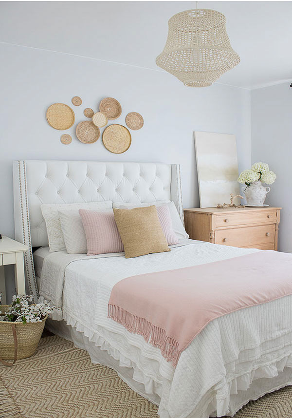 bedroom with Sherwin Williams Rhinestone walls