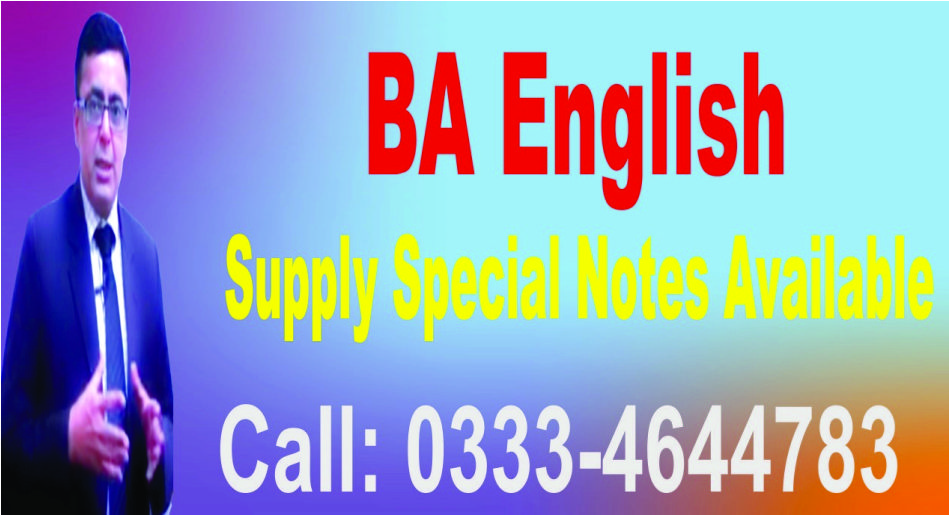BA English Notes,PU,UoS,IUB