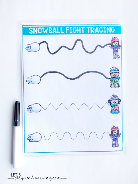 Use these sheets to practice tracing lines, a valuable prewriting skill