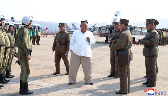 Pemimpin Korea Utara Kim Jong-un berkunjung ke Sunchon Airbase