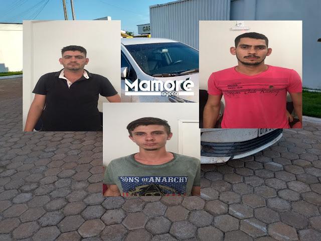 POLÍCIA MILITAR DE NOVA MAMORÉ PRENDE BANDO COM CARRO QUE HAVIA SIDO ROUBADO EM PORTO VELHO
