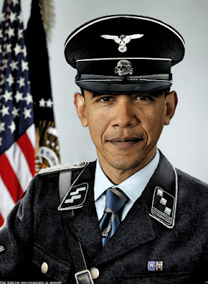 Lustiges Satire Bild - Barack Obama in SS Leutnant Uniform