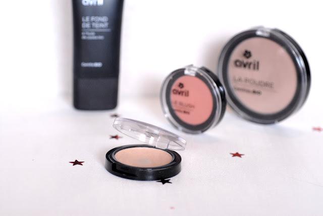 Toute de rose poudrée - maquillage teint bio avril