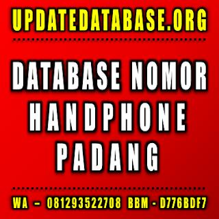 Jual Database Nomor Handphone Padang