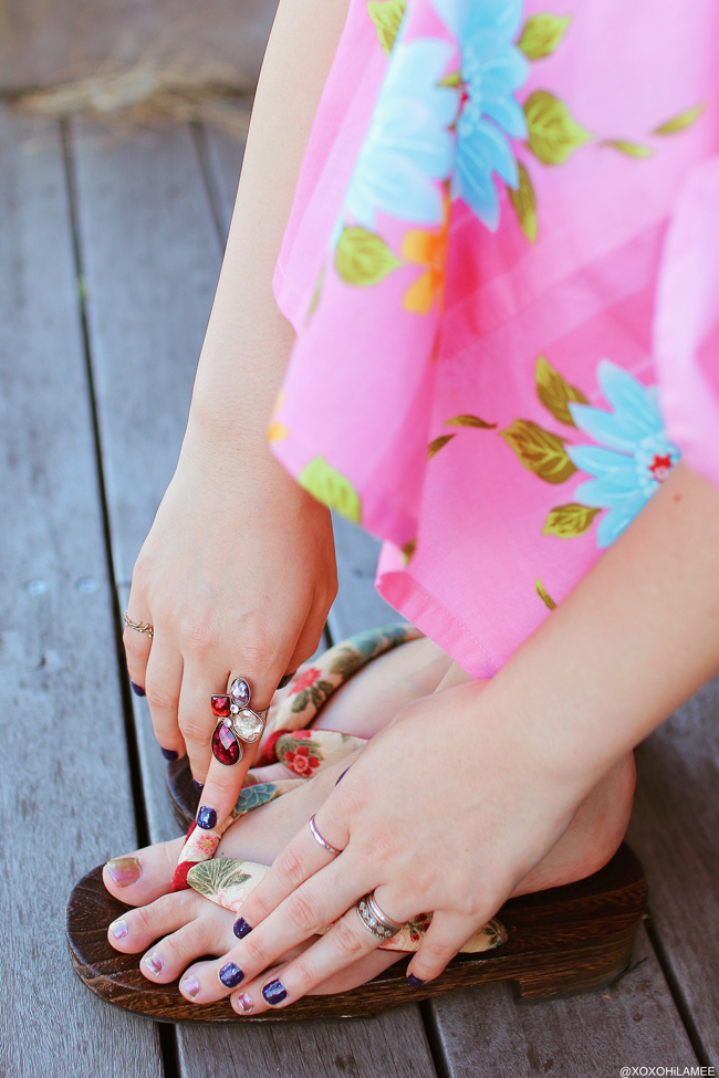 Japanese Fashion Blogger,MizuhoK,20180818OOTD, Pink Yukata , Bon Odori matsuri, Minatomirai, clutch bag=san blas crystal