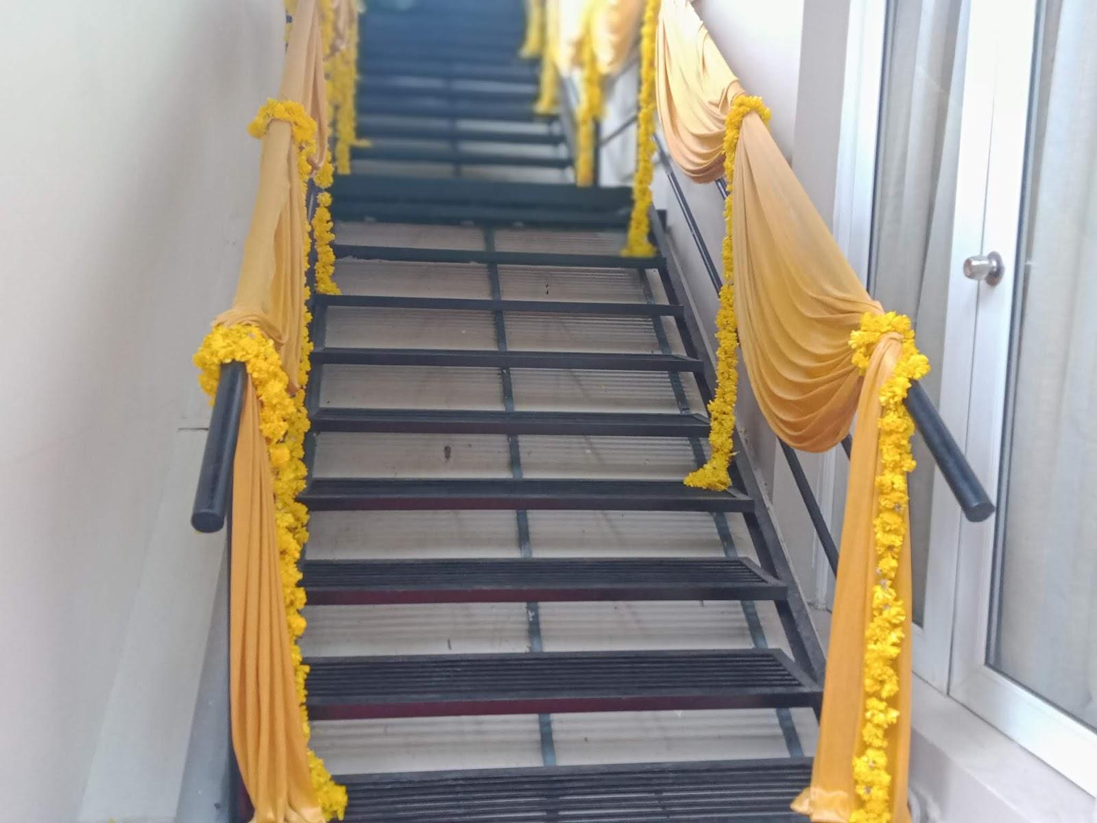 hand rail decoration wedding