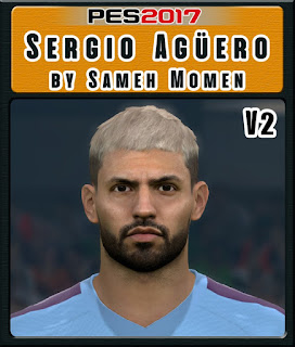 PES 2017 Faces Sergio Aguero by Sameh Momen