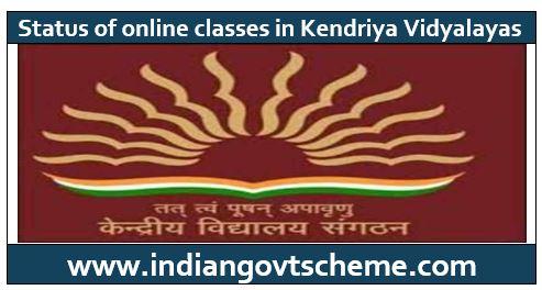 ONLINE CLASSES IN KENDRIYA VIDYALAYAS