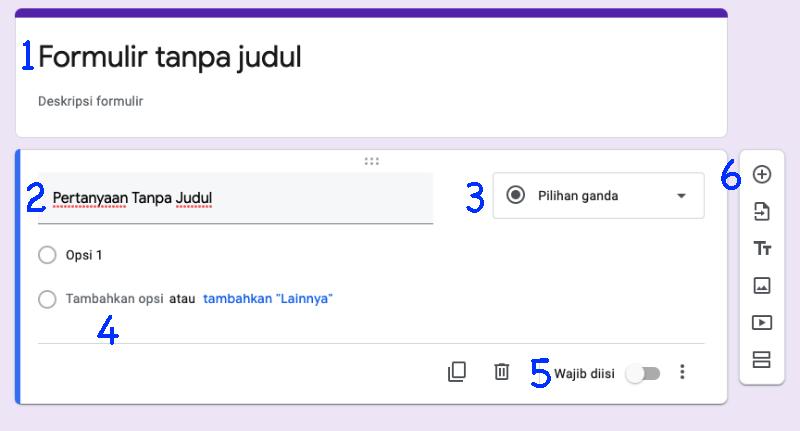 Cara Membuat Kuis Online Menggunakan Iframe dan Google Form pilihan menu
