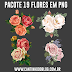 Pack com 19 flores em png grátis para baixar
