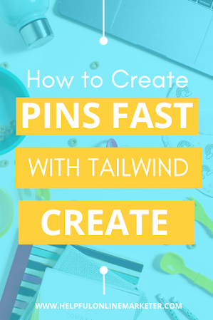 Does it take you forever to create 1 pin? Or do you just not have the time to make as many as you need? In this blog post I show you how to make click-worthy pins fast with Tailwind Create. Learn how to make multiple pins fast. Pinterest tips, Graphic design tips, Pinterest marketing, Pinterest for beginners, blog traffic tips.