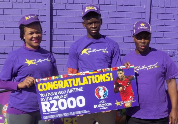 3rd prize Euro 2016 branch winner - Timothy from Alberton - wins airtime to the value of R2000