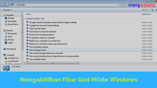 Cara Mengaktifkan God Mode pada Windows