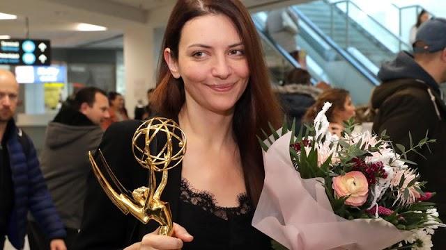 Így hozta haza Gera Marina az Emmy-díjat férje kíséretében
