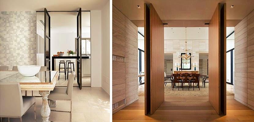 las puertas pivotantes aportan fluidez a los espacios se utilizan habitualmente para conectar el exterior e interior de los hogares proporcionando una - Puerta Pivotante
