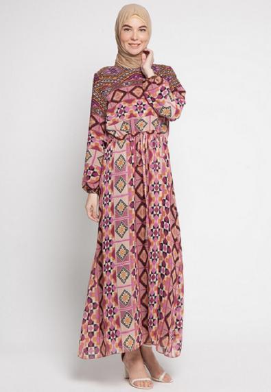 15 Baju Muslim Batik Kombinasi Sifon Paling Banyak Diminati Gaya