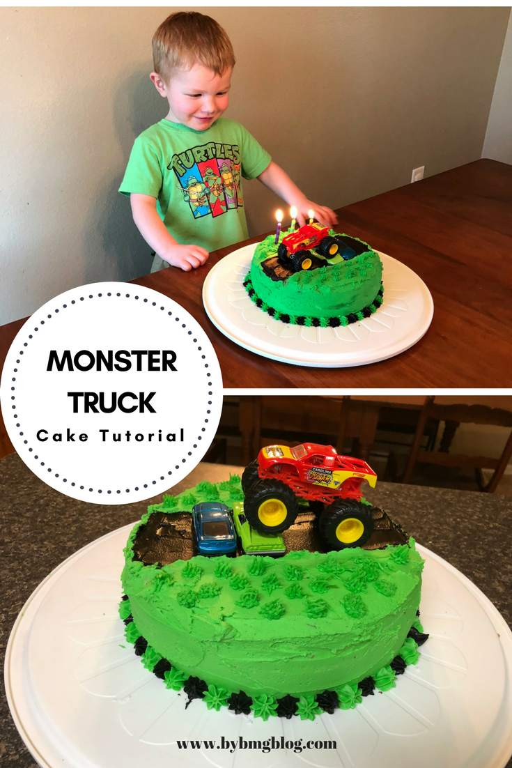 Terrific Bybmg Two Layer Monster Truck Birthday Cake Tutorial Funny Birthday Cards Online Fluifree Goldxyz