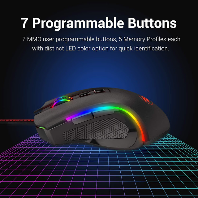 redragon m602 rgb wired gaming mouse