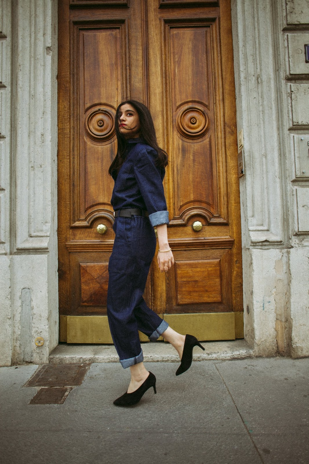 combinaison jean, combinaison denim, amenidaily, ameni daily, modeuse, blogueuse mode, le style de la parisienne, la redoute, la redoute collections, how to be parisian