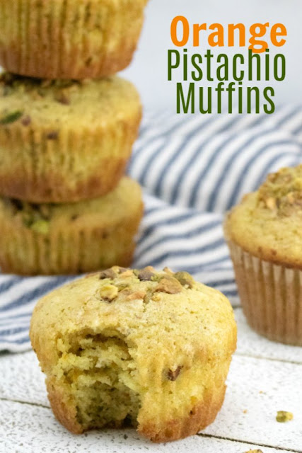 Bake soft and flavorful muffins kissed with real orange and the crunch of pistachios for a perfect breakfast treat. The come together quickly and taste amazing.