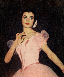 A picture of Fracci early in her career at La Scala Theatre Ballet