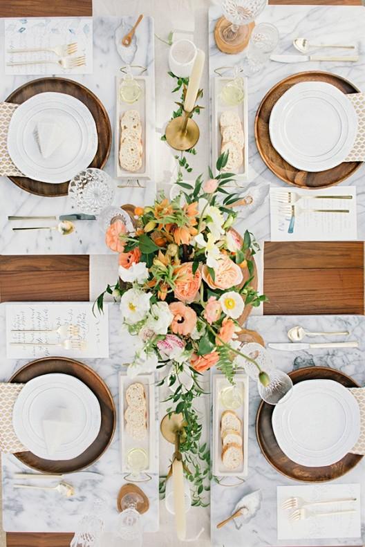 mesa de boda vista desde arriba chicanddeco