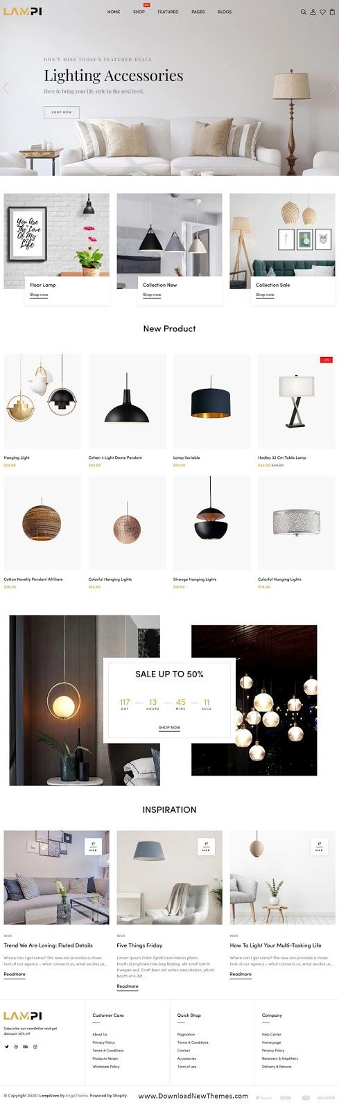 Lamp & Luxury Lights Responsive Shopify Theme