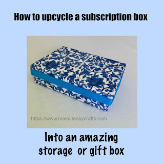 upcycle a subscription box