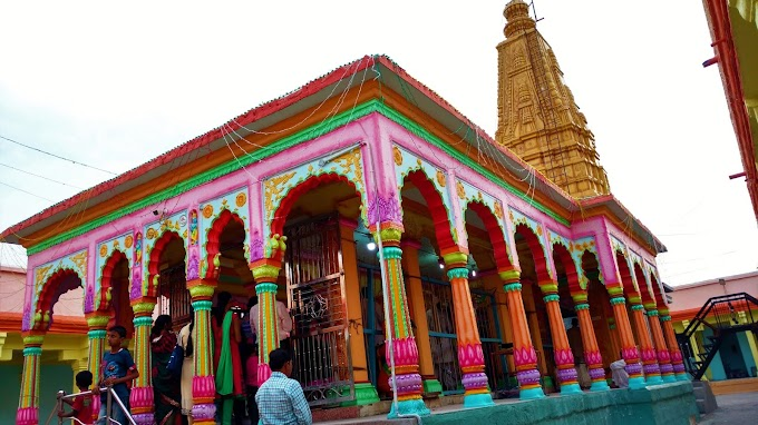 Colorful Temple at Dhapewada Kalameshwar