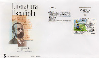 Sobre PDC de Madrid del sello dedicado a Leopoldo Alas Clarín