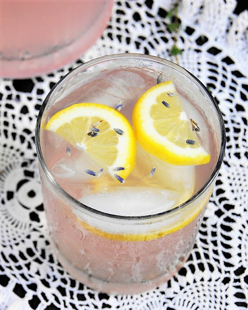 Glass of Lavender Lemonade Image