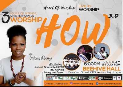 #How2018 Worship with Victoria Orenze this Sunday at HEART OF WORSHIP