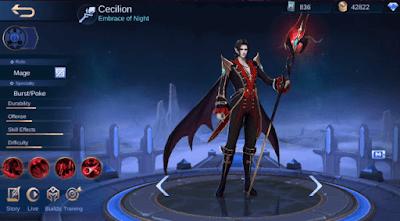 Tanggal rilis hero cecilion ke server global mobile legends