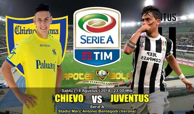 Prediksi Chievo Vs Juventus 18 Agustus 2018