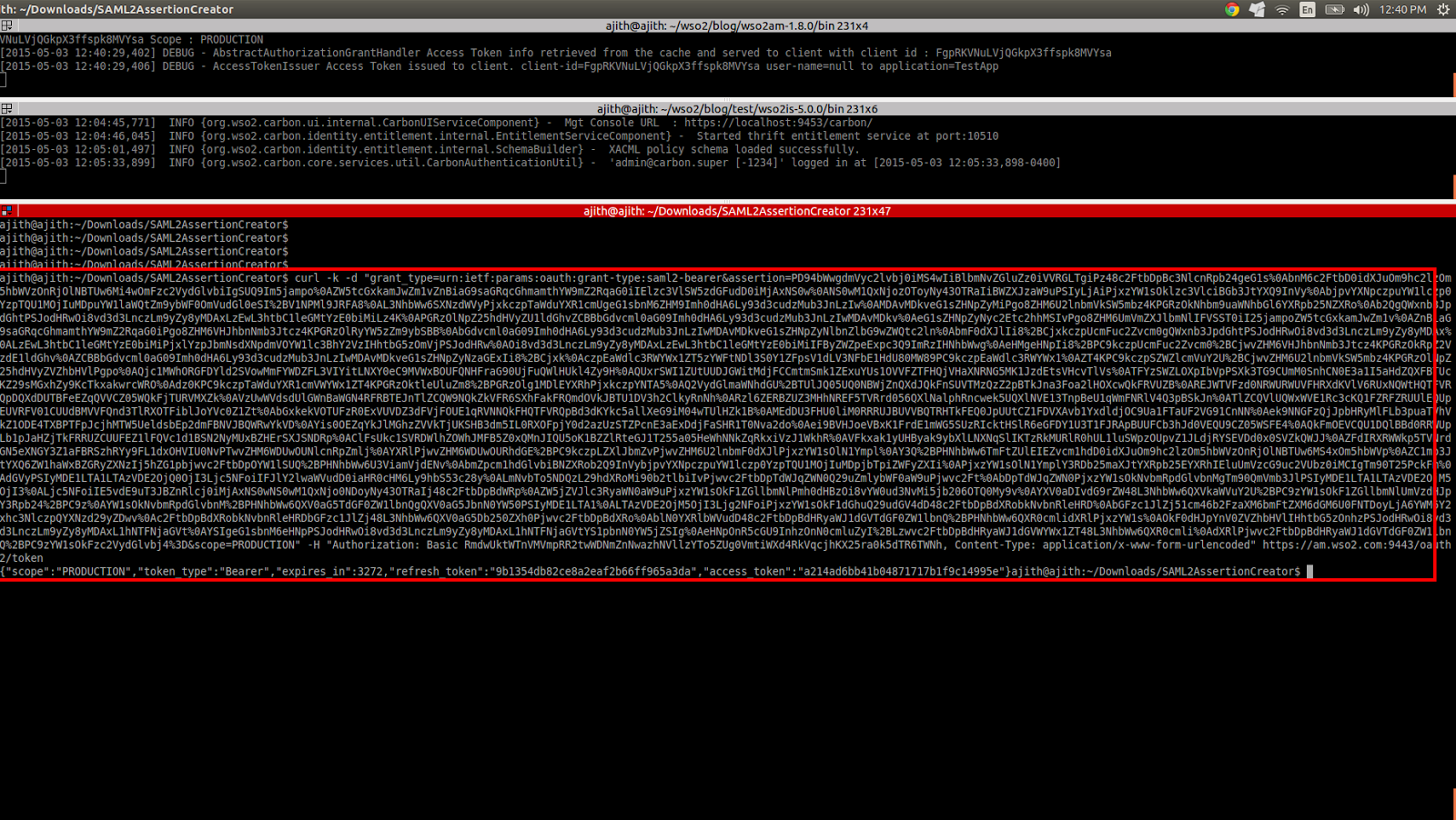 Ajith Vitharana's blog: [WSO2 AM/IS] SAML2 bearer tokens with OAuth2