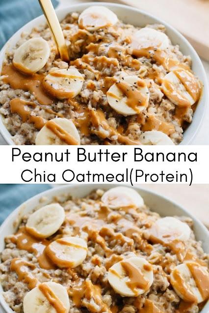 Peanut Butter Banana Chia Oatmeal