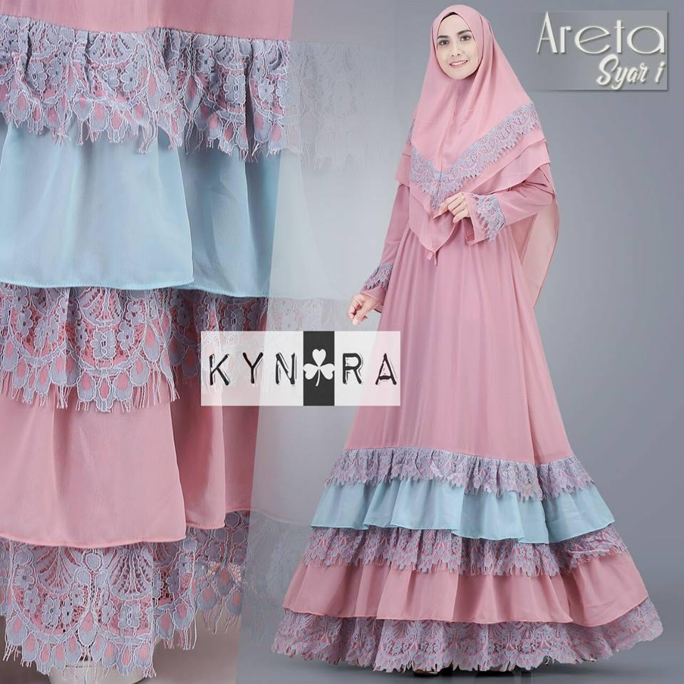 Areta Syari By Kynara Melody Fashion Aretha Tunik 4warna