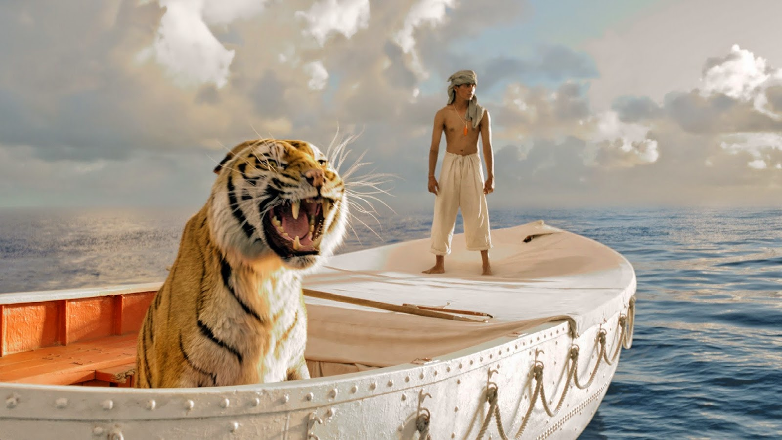 On a lifeboat with a Bengal tiger, Ang Lee